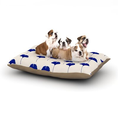 Iris Lehnhardt Leaf Dog Pillow with Fleece Cozy Top Size: Small (40 W x 30 D x 8 H)