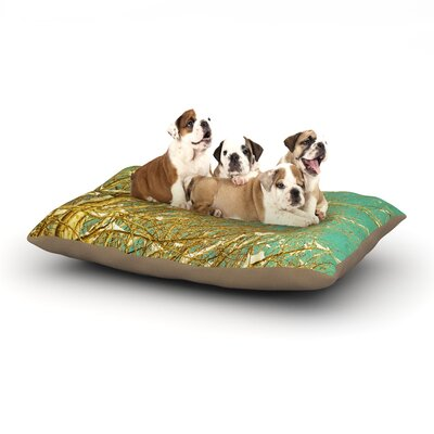 Iris Lehnhardt Snow Covered Twigs Dog Pillow with Fleece Cozy Top Size: Small (40 W x 30 D x 8 H)
