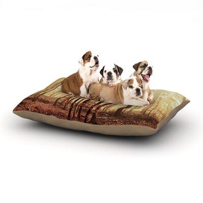 Iris Lehnhardt Autumn Again Dog Pillow with Fleece Cozy Top Size: Large (50 W x 40 D x 8 H)
