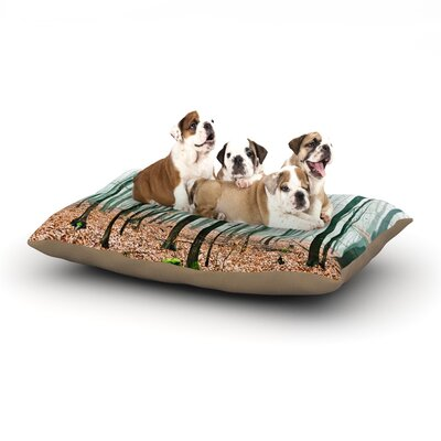 Iris Lehnhardt Between Times Dog Pillow with Fleece Cozy Top Size: Large (50 W x 40 D x 8 H)