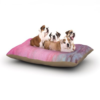 Iris Lehnhardt Color Wash Dog Pillow with Fleece Cozy Top Size: Small (40 W x 30 D x 8 H), Color: Pink
