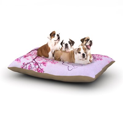 Iris Lehnhardt Magnolia Trees Branches Dog Pillow with Fleece Cozy Top Size: Large (50 W x 40 D x 8 H)