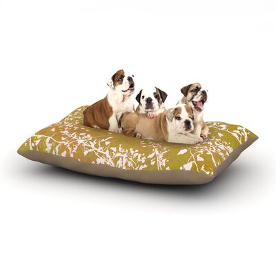 Iris Lehnhardt Twigs Silhouette Dog Pillow with Fleece Cozy Top Size: Large (50 W x 40 D x 8 H), Color: Neutral