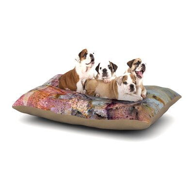 Iris Lehnhardt Floating Colors Dog Pillow with Fleece Cozy Top Size: Large (50 W x 40 D x 8 H)