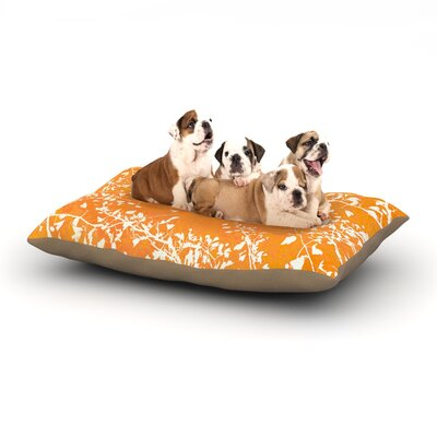 Iris Lehnhardt Twigs Silhouette Dog Pillow with Fleece Cozy Top Size: Small (40 W x 30 D x 8 H), Color: Orange/Tangerine