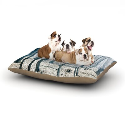 Iris Lehnhardt Blues Dog Pillow with Fleece Cozy Top Size: Small (40 W x 30 D x 8 H)