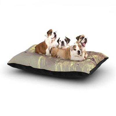 Ingrid Beddoes Sparkles of Gold Dog Pillow with Fleece Cozy Top Size: Small (40 W x 30 D x 8 H)