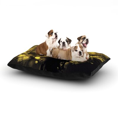 Ingrid Beddoes Moonlight Dandelion Dog Pillow with Fleece Cozy Top Size: Small (40 W x 30 D x 8 H)