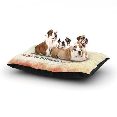 iRuz33 Cali Love Dog Pillow with Fleece Cozy Top Size: Large (50 W x 40 D x 8 H)