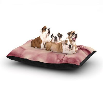 Ingrid Beddoes Pink Bubbles Dog Pillow with Fleece Cozy Top Size: Large (50 W x 40 D x 8 H)