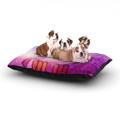 iRuz33 Showly Dog Pillow with Fleece Cozy Top Size: Small (40 W x 30 D x 8 H)