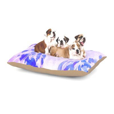 Iris Lehnhardt Abstract Leaves III Dog Pillow with Fleece Cozy Top Size: Large (50 W x 40 D x 8 H)