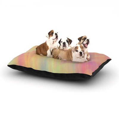 Ingrid Beddoes Pastel Abstract Dog Pillow with Fleece Cozy Top Size: Small (40 W x 30 D x 8 H)