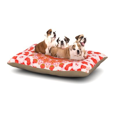 Iris Lehnhardt Mandala I Dog Pillow with Fleece Cozy Top Size: Large (50 W x 40 D x 8 H)