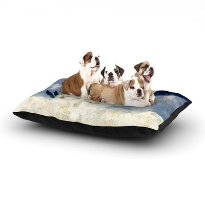 iRuz33 Doves Cry Dog Pillow with Fleece Cozy Top Size: Small (40 W x 30 D x 8 H)