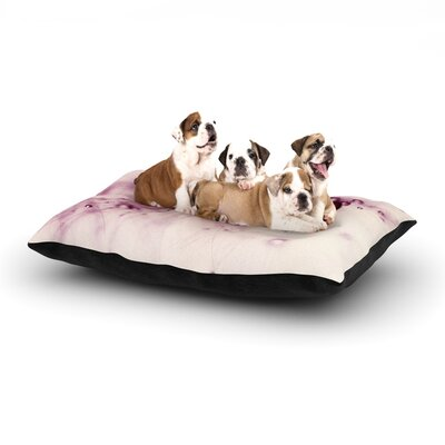 Ingrid Beddoes Pink Blush Dog Pillow with Fleece Cozy Top Size: Large (50 W x 40 D x 8 H)