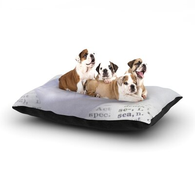 Ingrid Beddoes At Sea Paper Boat Dog Pillow with Fleece Cozy Top Size: Large (50 W x 40 D x 8 H)