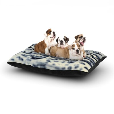 ingrid Beddoes Blue Ice Raindrops Dog Pillow with Fleece Cozy Top Size: Large (50 W x 40 D x 8 H)