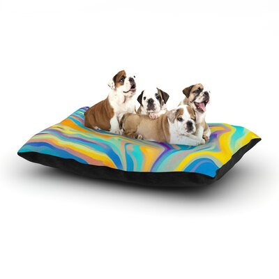 Ingrid Beddoes Rainbow Swirl Dog Pillow with Fleece Cozy Top Size: Small (40 W x 30 D x 8 H)