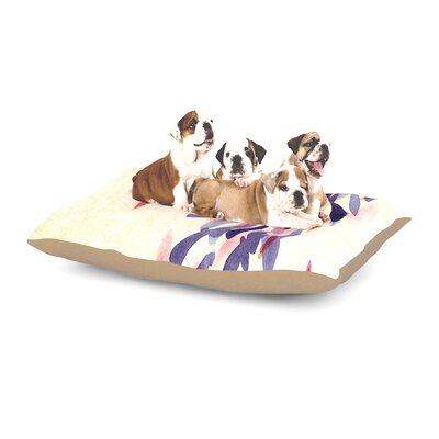 Iris Lehnhardt Abstract Leaves IV Dog Pillow with Fleece Cozy Top Size: Small (40 W x 30 D x 8 H)