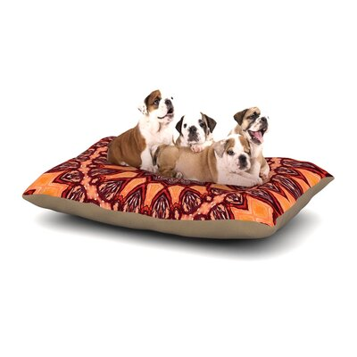 Iris Lehnhardt Colors of Africa Dog Pillow with Fleece Cozy Top Size: Large (50 W x 40 D x 8 H)