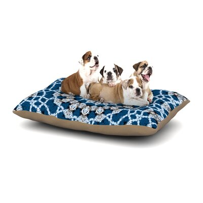 Iris Lehnhardt Mandala II Abstract Dog Pillow with Fleece Cozy Top Size: Small (40 W x 30 D x 8 H)
