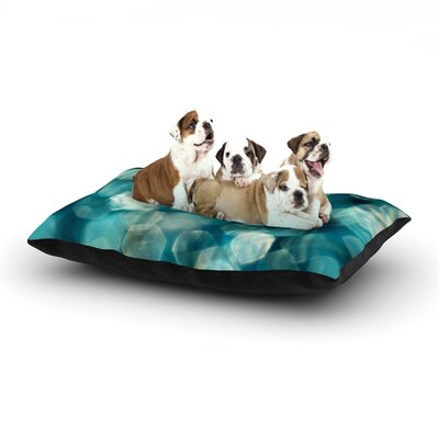 Ingrid Beddoes Shades of Blue Dog Pillow with Fleece Cozy Top Size: Large (50 W x 40 D x 8 H)