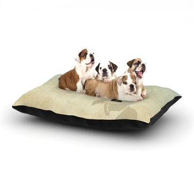 iRuz33 Kess Me Dog Pillow with Fleece Cozy Top Size: Small (40 W x 30 D x 8 H)