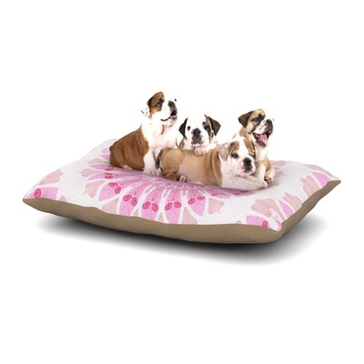 Iris Lehnhardt Flower Power Abstract Dog Pillow with Fleece Cozy Top Size: Large (50 W x 40 D x 8 H)
