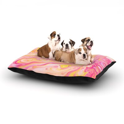 Ingrid Beddoes Bubble Gum Pink Dog Pillow with Fleece Cozy Top Size: Large (50 W x 40 D x 8 H)