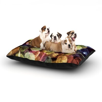 Ingrid Beddoes Warm Sparkle Dog Pillow with Fleece Cozy Top Size: Small (40 W x 30 D x 8 H)