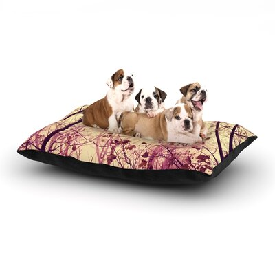 Ingrid Beddoes My Secret Garden Dog Pillow with Fleece Cozy Top Size: Large (50 W x 40 D x 8 H)