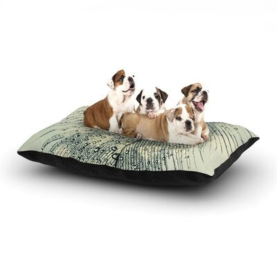 Ingrid Beddoes Feather Light Dog Pillow with Fleece Cozy Top Size: Small (40 W x 30 D x 8 H)