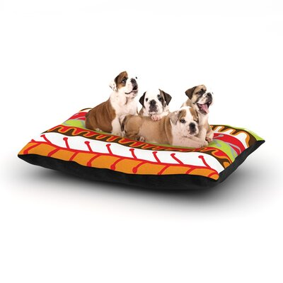 Jacqueline Milton Salsa Dog Pillow with Fleece Cozy Top Size: Large (50 W x 40 D x 8 H), Color: Orange/Yellow/Red