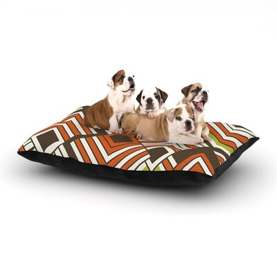 Jacqueline Milton Luca Dog Pillow with Fleece Cozy Top Size: Small (40 W x 30 D x 8 H), Color: Brown/Orange