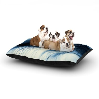 Ingrid Beddoes Fall in Blue Dog Pillow with Fleece Cozy Top Size: Large (50 W x 40 D x 8 H)
