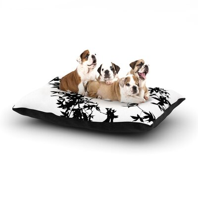 Ingrid Beddoes Black on White Dog Pillow with Fleece Cozy Top Size: Large (50 W x 40 D x 8 H)