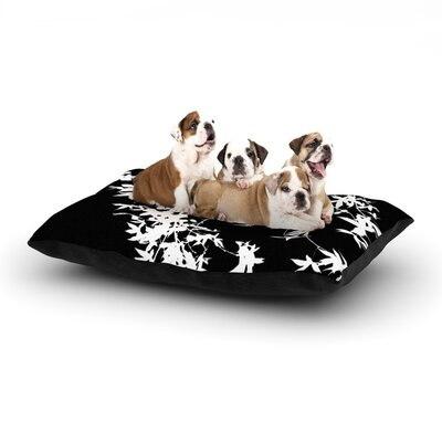Ingrid Beddoes White on Black Dog Pillow with Fleece Cozy Top Size: Small (40 W x 30 D x 8 H)