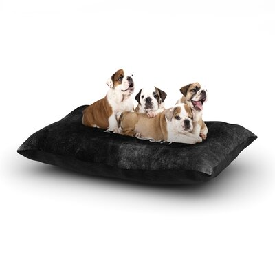 Ingrid Beddoes I Love London Grundge Dog Pillow with Fleece Cozy Top Size: Large (50 W x 40 D x 8 H)