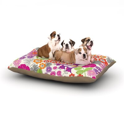 Jacqueline Milton Lula Dog Pillow with Fleece Cozy Top Size: Small (40 W x 30 D x 8 H), Color: Pink/White