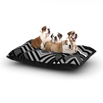 Jacqueline Milton Luca Dog Pillow with Fleece Cozy Top Size: Large (50 W x 40 D x 8 H), Color: Black/White