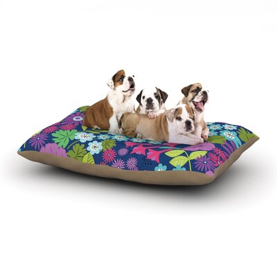 Jacqueline Milton Lula Dog Pillow with Fleece Cozy Top Size: Small (40 W x 30 D x 8 H), Color: Aqua/Purple/Blue