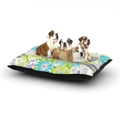 Jacqueline Milton Trumpet Vine Dog Pillow with Fleece Cozy Top Size: Large (50 W x 40 D x 8 H)