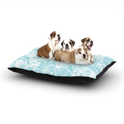 Jacqueline Milton Vine Shadow Floral Dog Pillow with Fleece Cozy Top Size: Small (40 W x 30 D x 8 H), Color: Aqua/Blue