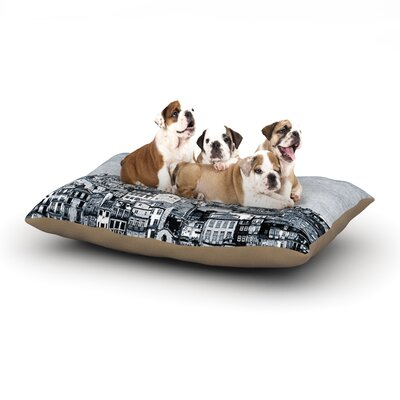 Ingrid Beddoes A Riberia City Dog Pillow with Fleece Cozy Top Size: Large (50 W x 40 D x 8 H)