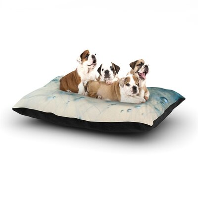 Ingrid Beddoes Pearls Dog Pillow with Fleece Cozy Top Size: Large (50 W x 40 D x 8 H)