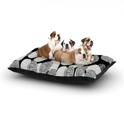 Jacqueline Milton Seeds - Monochrome Dog Pillow with Fleece Cozy Top Size: Large (50 W x 40 D x 8 H)
