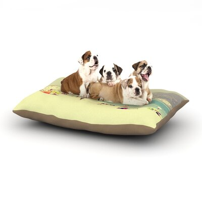 Ingrid Beddoes Lazy Days Summer Beach Dog Pillow with Fleece Cozy Top Size: Large (50 W x 40 D x 8 H)