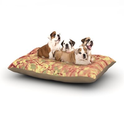 Ingrid Beddoes Vintage Blossoms Flower Dog Pillow with Fleece Cozy Top Size: Large (50 W x 40 D x 8 H)
