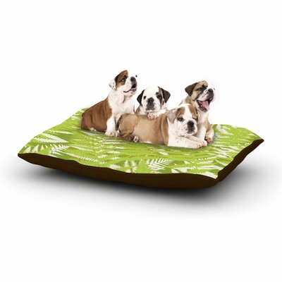 Jacqueline Milton Fun Fern Floral Dog Pillow with Fleece Cozy Top Color: Green